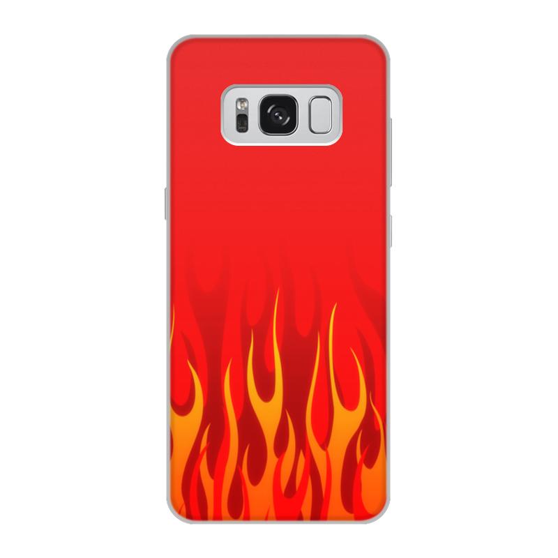 Printio Чехол для Samsung Galaxy S8, объёмная печать Пламя printio чехол для samsung galaxy s8 plus объёмная печать пламя и дым