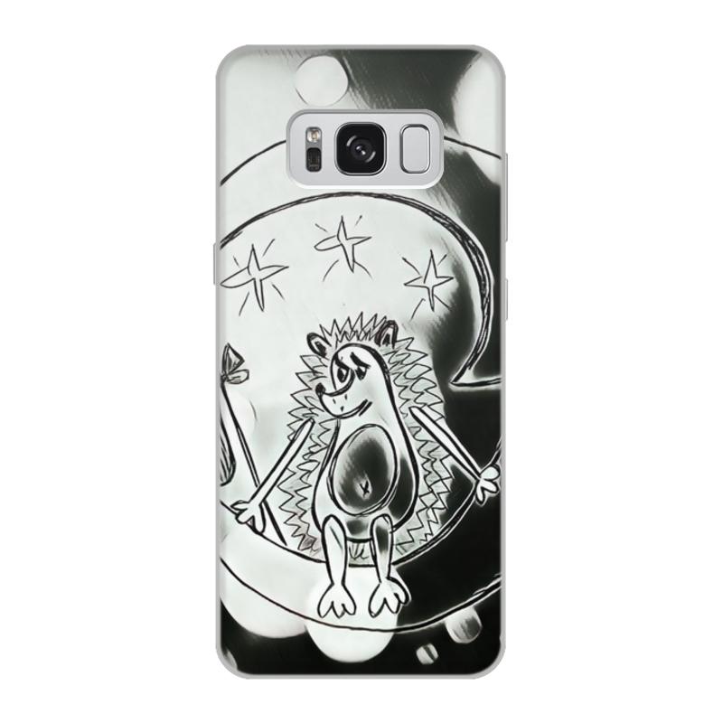 Printio Чехол для Samsung Galaxy S8, объёмная печать Ежик на луне