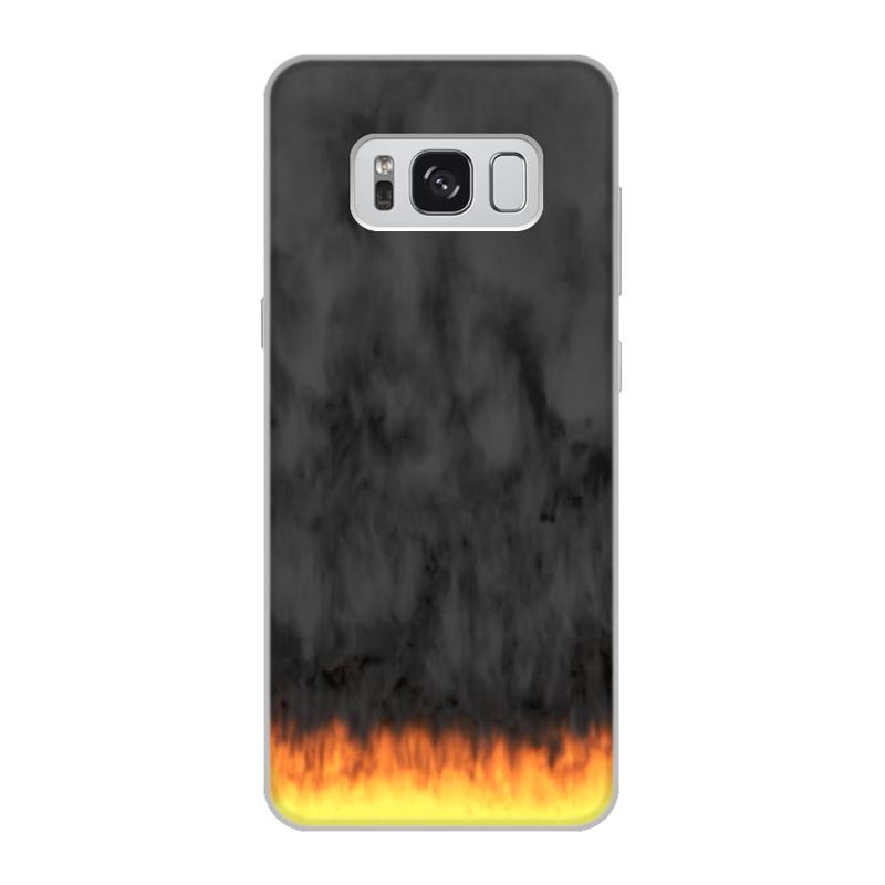 Printio Чехол для Samsung Galaxy S8, объёмная печать Пламя и дым printio чехол для samsung galaxy s8 plus объёмная печать пламя и дым
