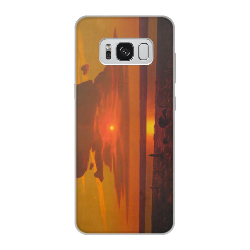 Фото - Printio Чехол для Samsung Galaxy S8, объёмная печать Красный закат (картина архипа куинджи) printio тетрадь на скрепке берёзовая роща картина архипа куинджи