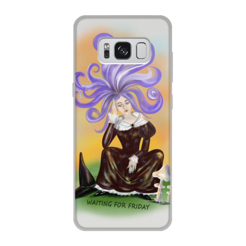 Printio Чехол для Samsung Galaxy S8, объёмная печать Задумчивая ведьма