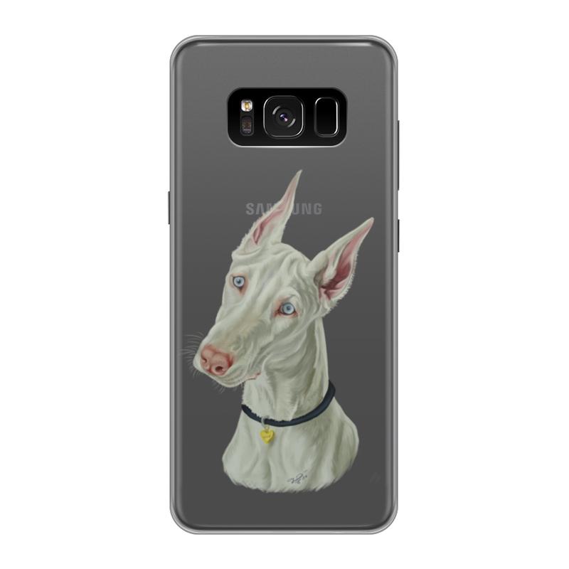 Фото - Printio Чехол для Samsung Galaxy S8, объёмная печать Доберман printio чехол для samsung galaxy s8 объёмная печать deus vult крестоносцы