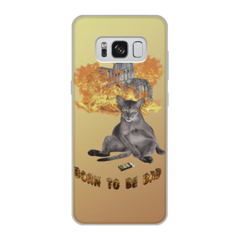 Printio Чехол для Samsung Galaxy S8, объёмная печать Рождён быть плохим
