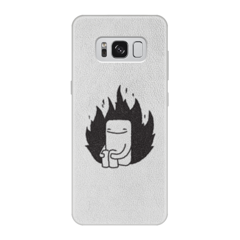 Фото - Printio Чехол для Samsung Galaxy S8, объёмная печать Человек printio чехол для samsung galaxy s8 объёмная печать deus vult крестоносцы