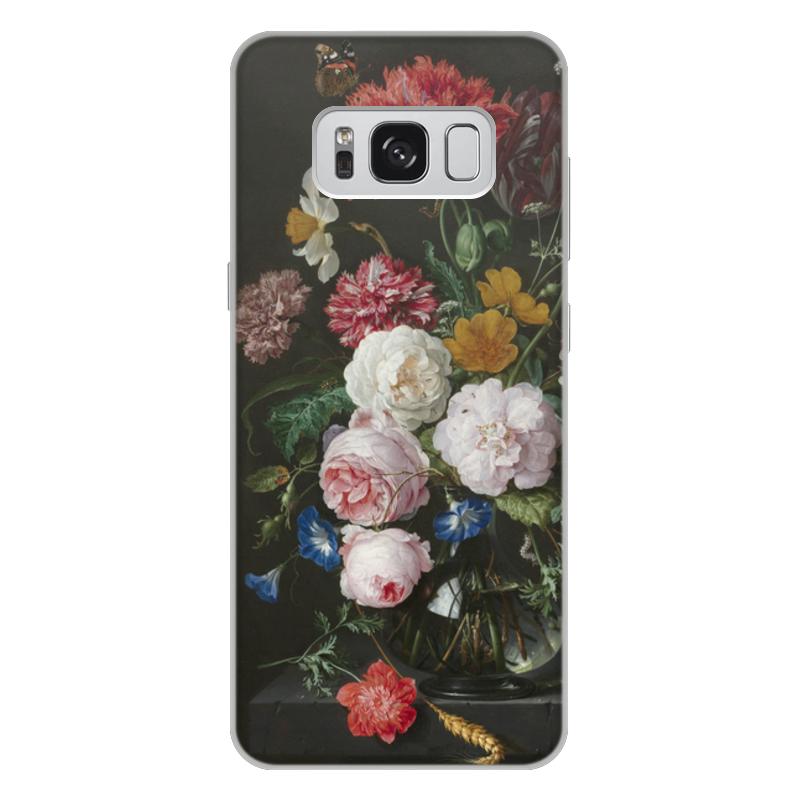 Printio Чехол для Samsung Galaxy S8 Plus, объёмная печать Цветочный букет в стеклянной вазе (ян де хем)