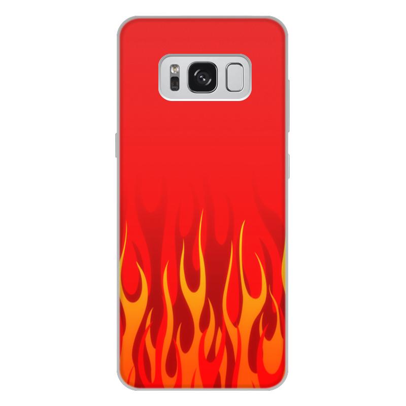 Printio Чехол для Samsung Galaxy S8 Plus, объёмная печать Пламя printio чехол для samsung galaxy s8 plus объёмная печать пламя и дым