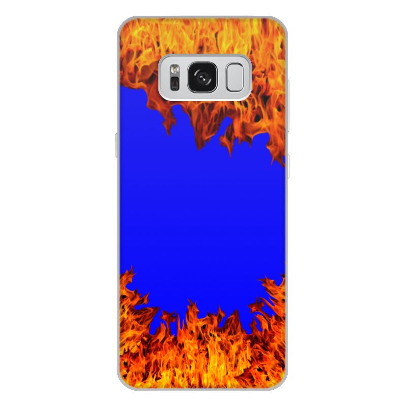 Printio Чехол для Samsung Galaxy S8 Plus, объёмная печать Пламя огня printio чехол для samsung galaxy s8 plus объёмная печать пламя и дым