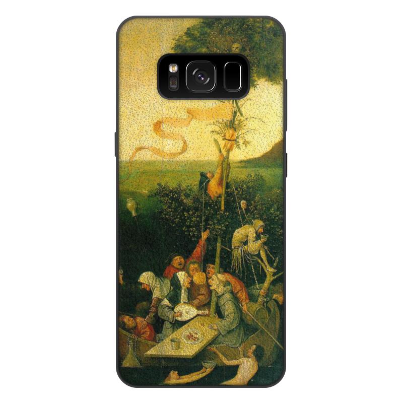 Фото - Printio Чехол для Samsung Galaxy S8 Plus, объёмная печать Корабль дураков (картина босха) printio чехол для samsung galaxy s8 plus объёмная печать ад ад и потоп створки алтаря иеронима босха