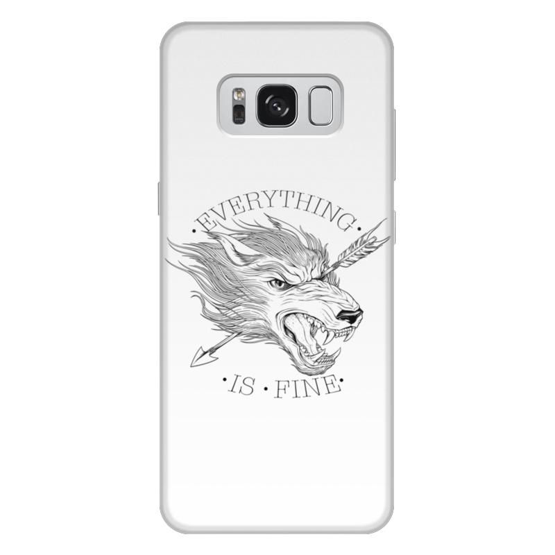 Printio Чехол для Samsung Galaxy S8 Plus, объёмная печать Все в порядке printio чехол для samsung galaxy s8 объёмная печать одежда для телефона с волком