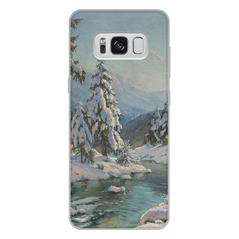 Фото - Printio Чехол для Samsung Galaxy S8 Plus, объёмная печать Зимний пейзаж с елями (картина вещилова) printio чехол для iphone 7 plus объёмная печать цветы на фоне озера картина вещилова