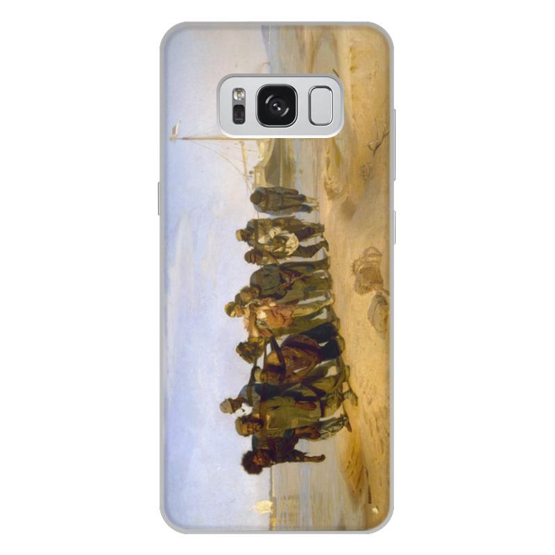 Printio Чехол для Samsung Galaxy S8 Plus, объёмная печать Бурлаки на волге (картина ильи репина)