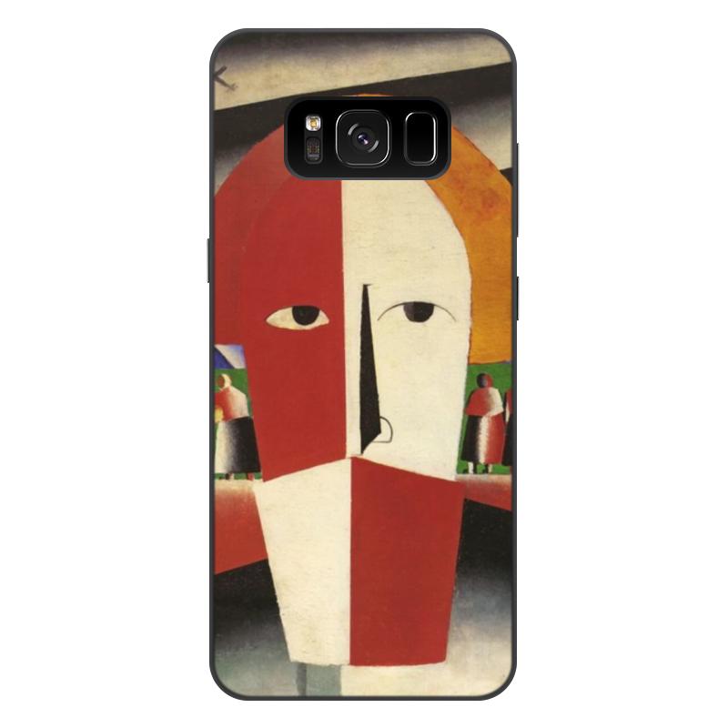 Printio Чехол для Samsung Galaxy S8 Plus, объёмная печать Голова крестьянина (казимир малевич)