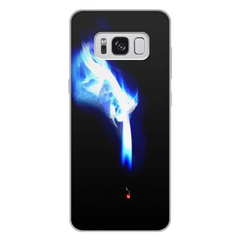 Printio Чехол для Samsung Galaxy S8 Plus, объёмная печать Спичка printio чехол для samsung galaxy s8 plus объёмная печать пламя и дым