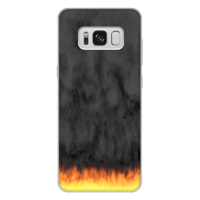 Printio Чехол для Samsung Galaxy S8 Plus, объёмная печать Пламя и дым printio чехол для samsung galaxy s8 plus объёмная печать пламя и дым