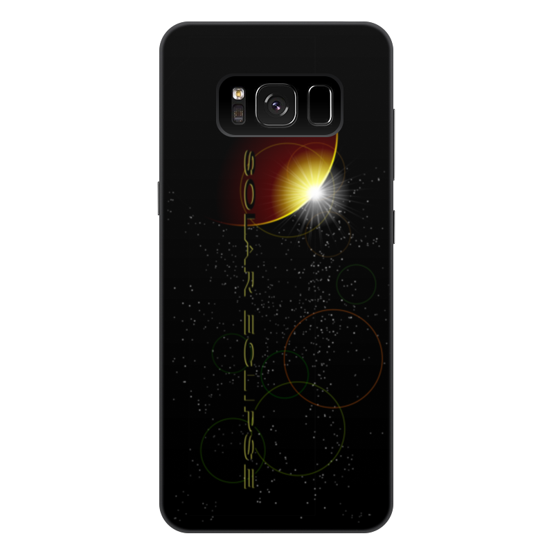 Фото - Printio Чехол для Samsung Galaxy S8 Plus, объёмная печать Затмение солнца. printio чехол для samsung galaxy s8 plus объёмная печать vigilante