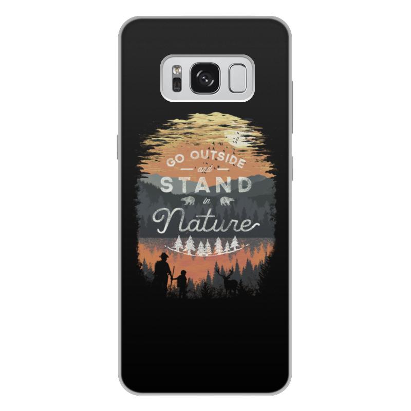 Printio Чехол для Samsung Galaxy S8 Plus, объёмная печать Выйди на природу