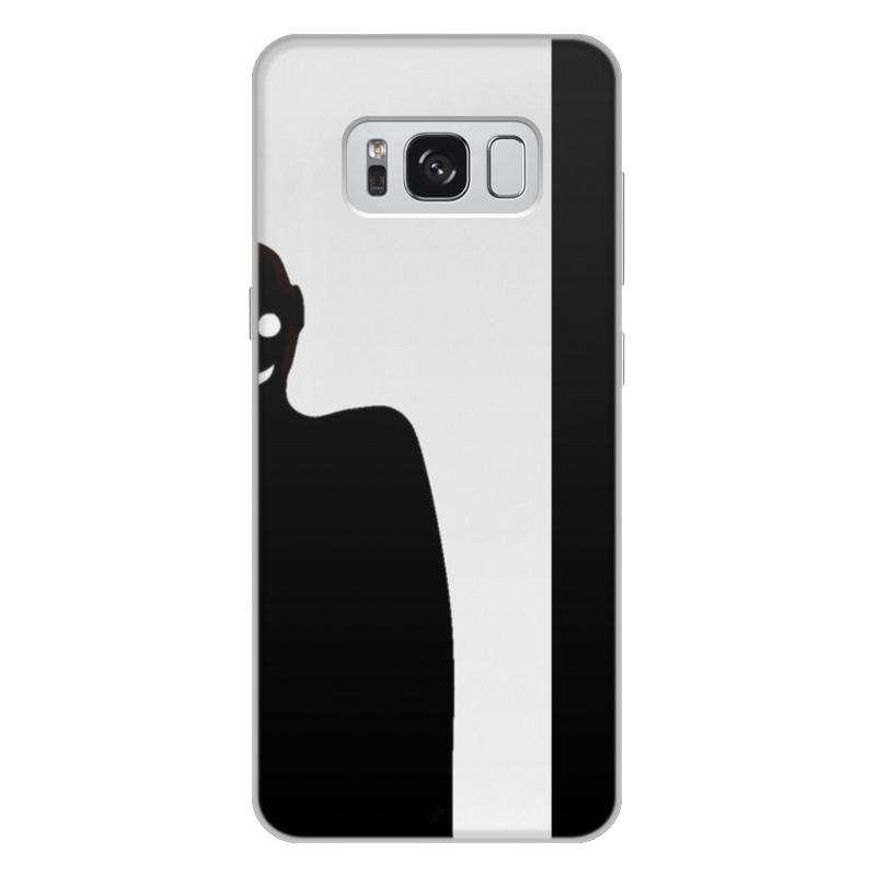 Printio Чехол для Samsung Galaxy S8 Plus, объёмная печать Черное&белое