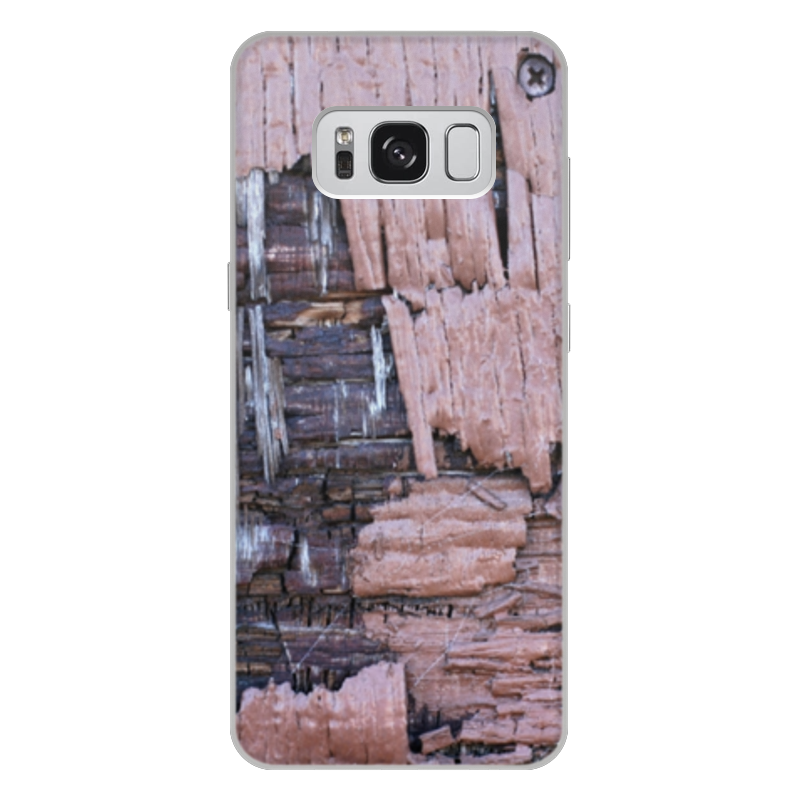 Printio Чехол для Samsung Galaxy S8 Plus, объёмная печать Деревянный