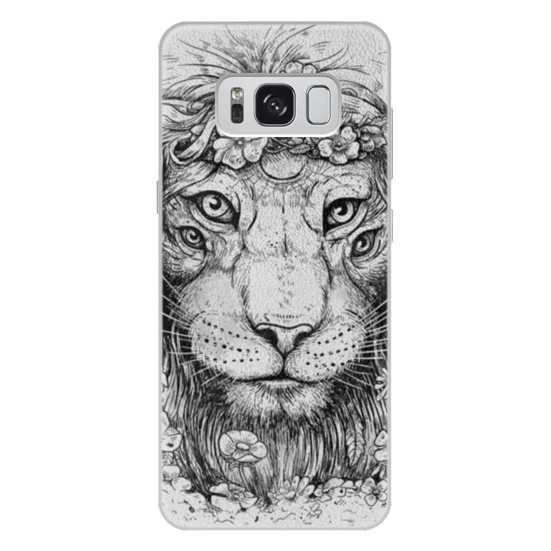 Printio Чехол для Samsung Galaxy S8 Plus, объёмная печать Царь природы