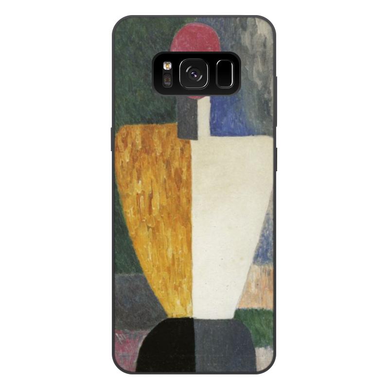 чехол для iphone 8 объёмная печать printio торс фигура с розовым лицом малевич Printio Чехол для Samsung Galaxy S8 Plus, объёмная печать Торс (фигура с розовым лицом) (малевич)