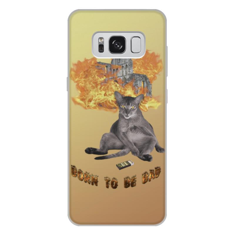 Printio Чехол для Samsung Galaxy S8 Plus, объёмная печать Рождён быть плохим