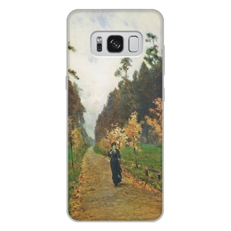 Printio Чехол для Samsung Galaxy S8 Plus, объёмная печать Осенний день. сокольники (левитан)