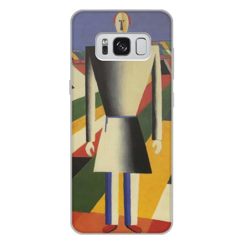 Printio Чехол для Samsung Galaxy S8 Plus, объёмная печать Крестьянин в поле (казимир малевич)