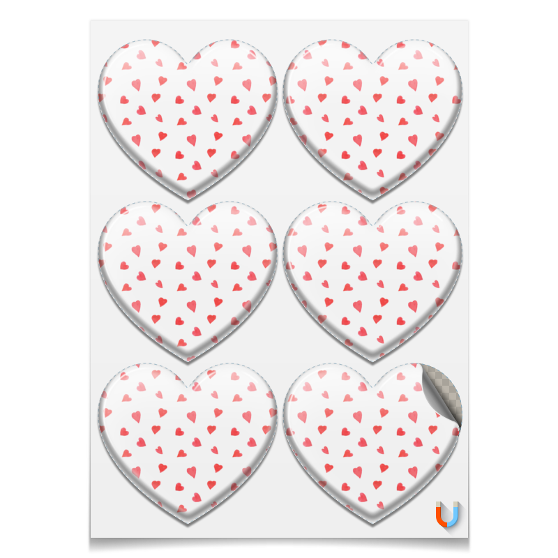 Printio Магниты-сердца 7.5×9.7 см Сердечки