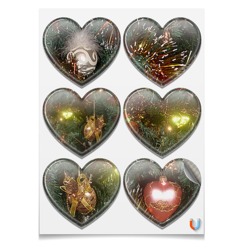 Printio Магниты-сердца 7.5×9.7 см Праздник.