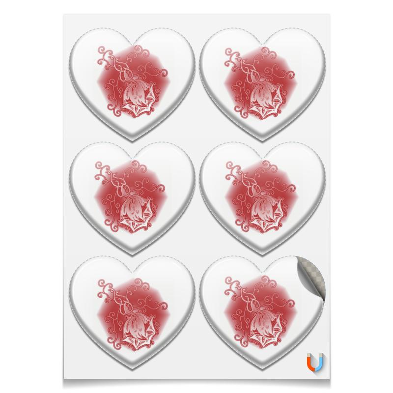 Printio Магниты-сердца 7.5×9.7 см Ажурная роза