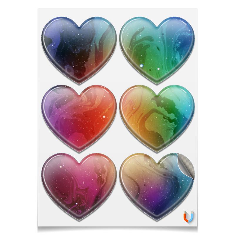 Printio Магниты-сердца 7.5×9.7 см Без названия