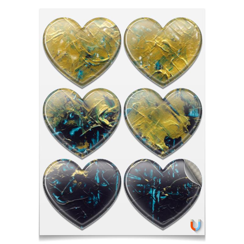 Printio Магниты-сердца 7.5×9.7 см Abstract