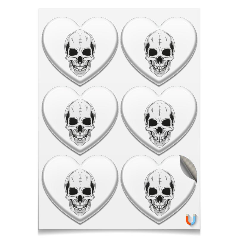 Printio Магниты-сердца 7.5×9.7 см Черепа