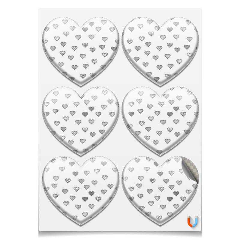 Printio Магниты-сердца 7.5×9.7 см День святого валентина