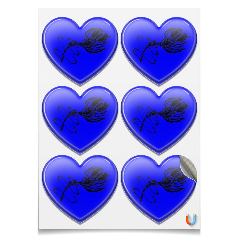 Printio Магниты-сердца 7.5×9.7 см Драгоценный цветок