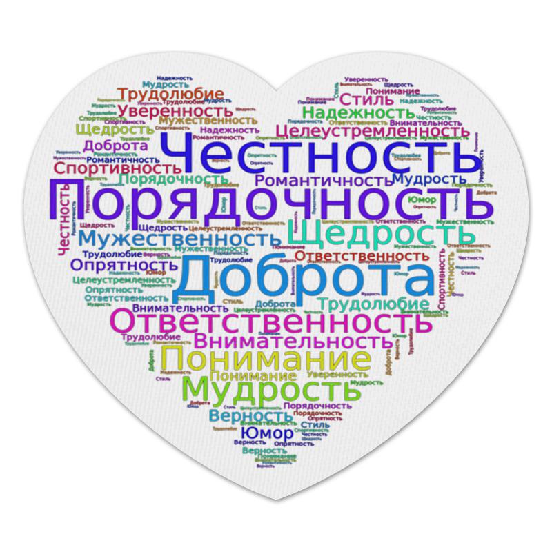 Printio Коврик для мышки (сердце) Каких мужчин любят женщины
