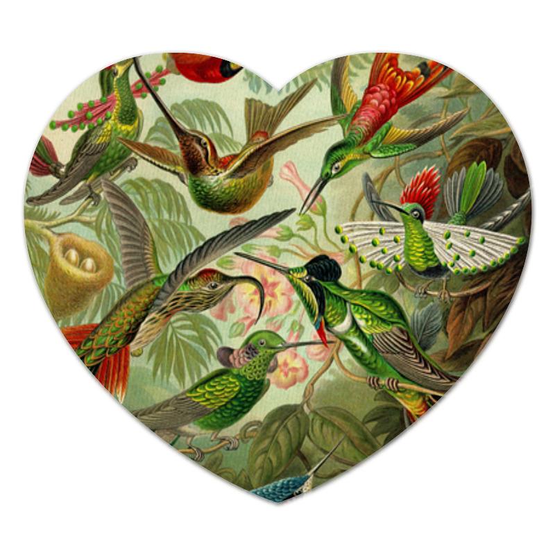 Printio Коврик для мышки (сердце) Колибри (trochilidae, ernst haeckel)