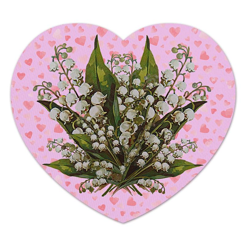 Printio Коврик для мышки (сердце) Я люблю ландыши. printio коврик для мышки сердце я тебя люблю валентинка