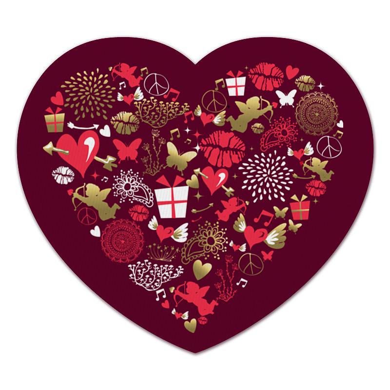 Printio Коврик для мышки (сердце) Валентинка printio коврик для мышки сердце я тебя люблю валентинка