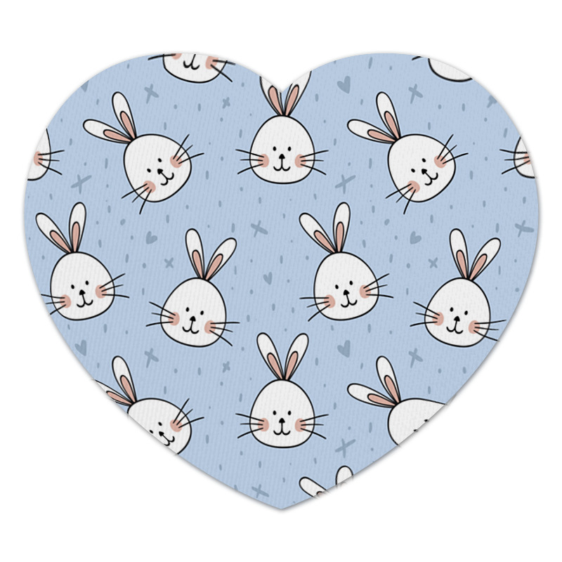 Printio Коврик для мышки (сердце) Милый кролик