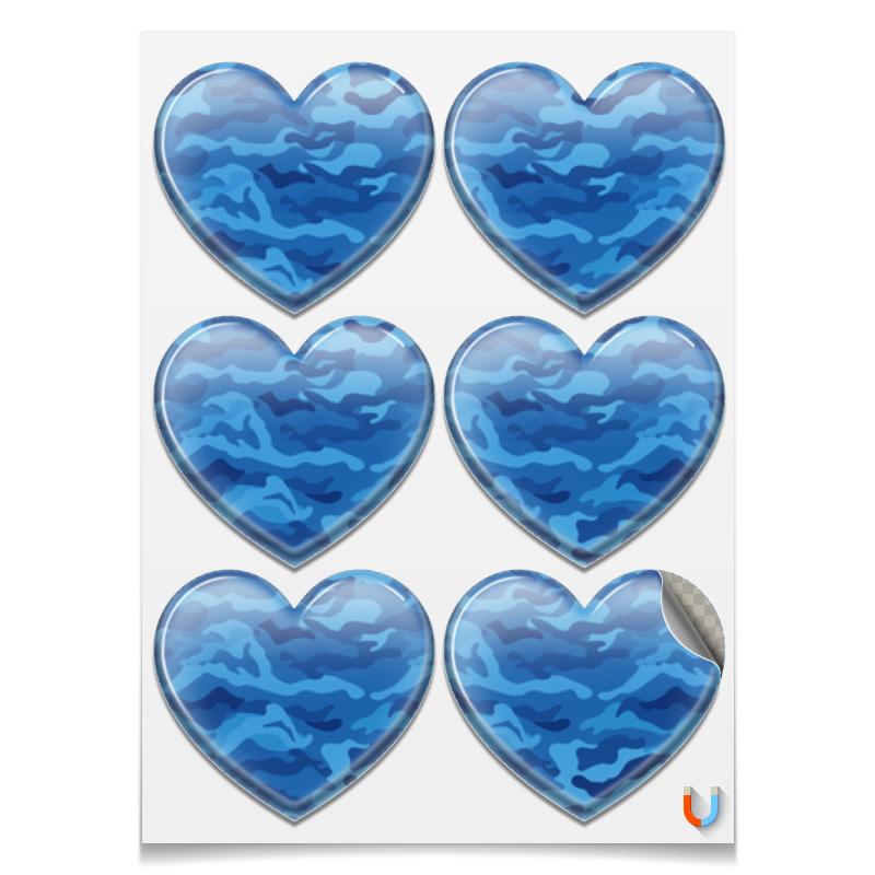 Printio Наклейки-сердца 7.5×9.7 см Камуфляж