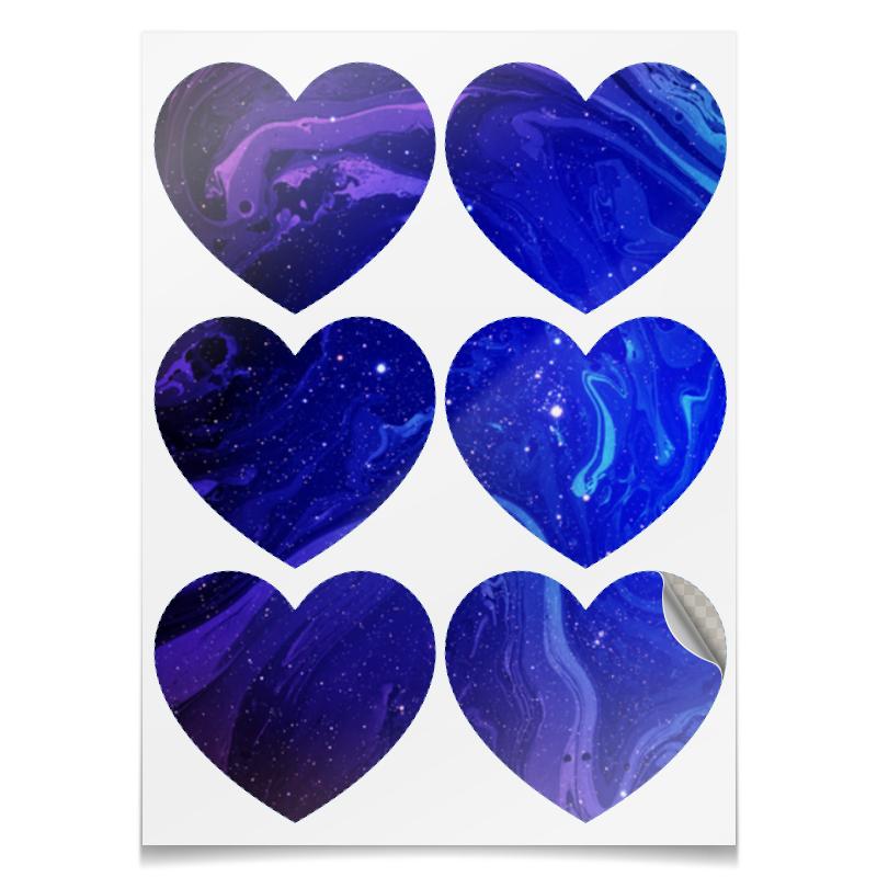 Printio Наклейки-сердца 7.5×9.7 см Без названия