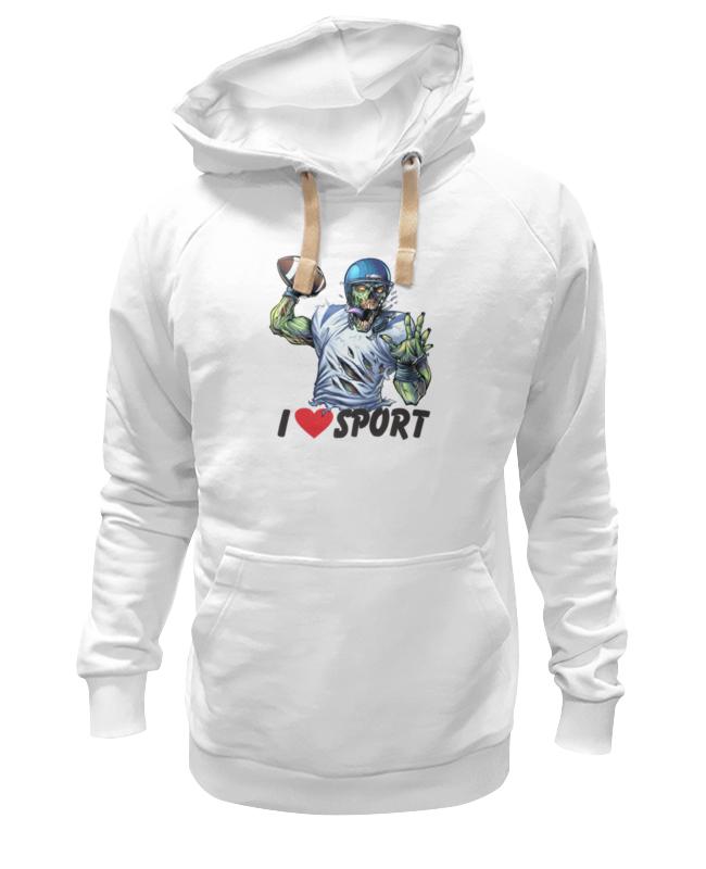 Printio Толстовка Wearcraft Premium унисекс Зомби спорт - я люблю спорт