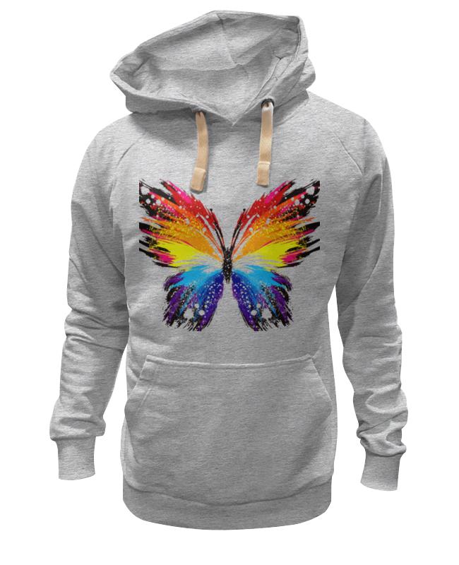 Printio Толстовка Wearcraft Premium унисекс бабочка, радуга