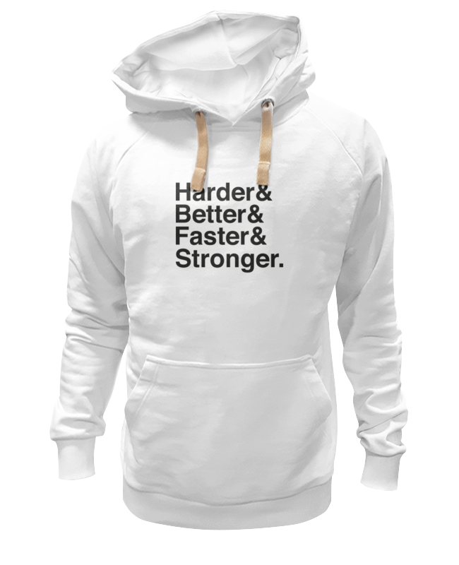 Printio Толстовка Wearcraft Premium унисекс Harder, better, faster, stronger