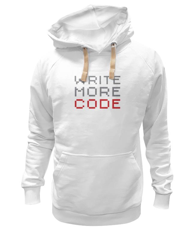 Printio Толстовка Wearcraft Premium унисекс Пиши больше кода