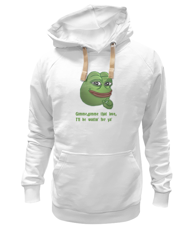 Фото - Printio Толстовка Wearcraft Premium унисекс Pepe the frog whant some love printio сумка pepe the frog whant some love