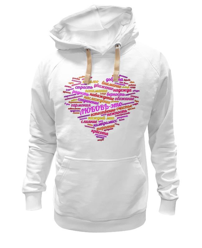 Printio Толстовка Wearcraft Premium унисекс Страстное сердце - любовь это