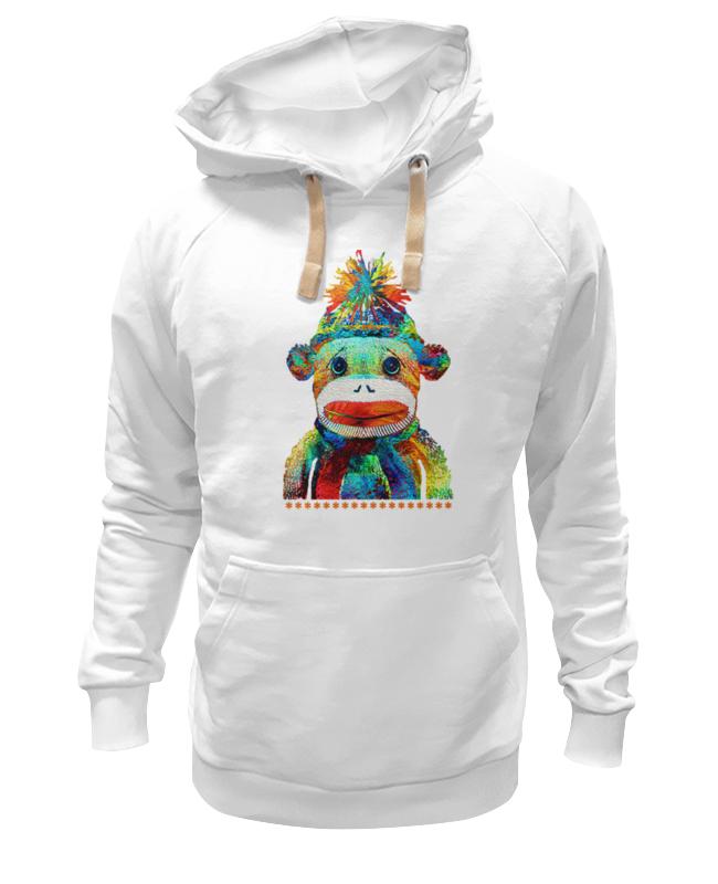 printio футболка wearcraft premium slim fit обезьяна символ нового 2016 года Printio Толстовка Wearcraft Premium унисекс Обезьяна. символ 2016 года