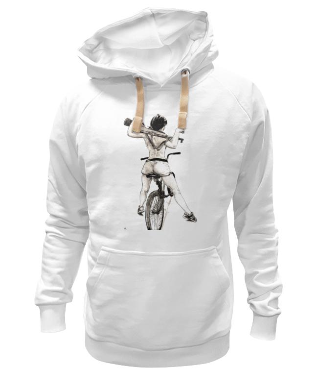 Printio Толстовка Wearcraft Premium унисекс Девушка, карабин, велосипед